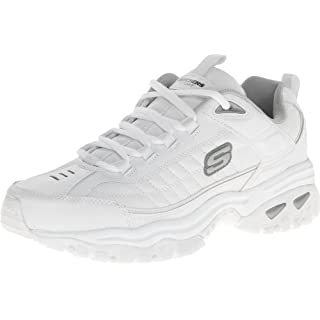 Skechers Men's Energy Afterburn Lace-Up Sneaker, White, Size 11.0