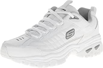 Skechers Men's Energy Afterburn Lace-Up Sneaker,White,6 H M US