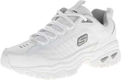 Skechers Men's Energy Afterburn Lace-Up Sneaker,White,9 M US