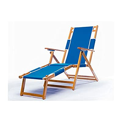 Heavy Duty Commercial Grade Oak Wood Beach Chair / Chaise Lounger - FOOT REST (SOLD AS OPTION) ; Commercial-quality, great for resorts, swim clubs, and hotels; Made with Quality materials to last for long Adjustable beach chair made of Canadian oak wood ; Reclines in 4 positions (does NOT recline flat) ; Weighs 25.2 (without footrest) 9 oz. marine grade fabric (3 year warranty) ; fade resistant ; Double-dowel assembly conveniently folds ; One year warranty of wood and other parts. - patio-furniture, patio-chairs, patio - 41XqT7UgWLL. SS400  -