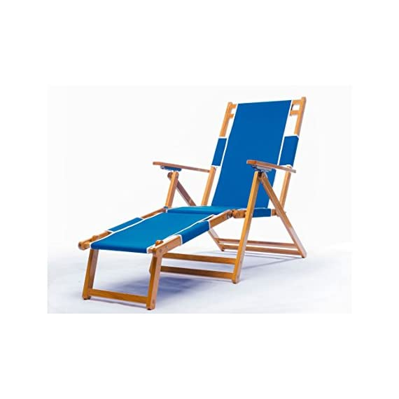 Frankford Umbrellas Heavy Duty Commercial Grade Oak Wood Beach Chair/Chaise Lounger - FOOT REST (SOLD AS OPTION) ; Commercial-quality, great for resorts, swim clubs, and hotels; Made with Quality materials to last for long Adjustable beach chair made of Canadian oak wood ; Reclines in 4 positions (does NOT recline flat) ; Weighs 25.2 (without footrest) 9 oz. marine grade fabric (3 year warranty) ; fade resistant ; Double-dowel assembly conveniently folds ; One year warranty of wood and other parts. - patio-furniture, patio-chairs, patio - 41XqT7UgWLL. SS570  -