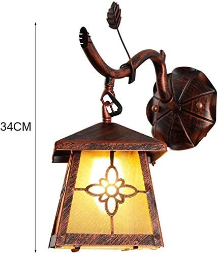 MOCHENG Wrought iron country retro wall lamp living room dining room aisle bedroom bedside lamp study creative wall lamp