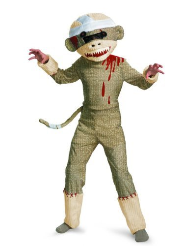 Zombie Sock Monkey Boys Costume, 4-6 -