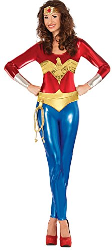 Yandy Costumes 2016 (DC Comics Superhero Style Deluxe Classic Wonder Woman Costume, Multi, Medium)