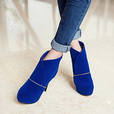 Winter Women's Shoes Bootie Zipper For Boots Best Casual Ankle Red Dress Booties Heel Toe Fashion blue Blue Leatherette Stiletto Boots 4U Boots Round n5EgqI