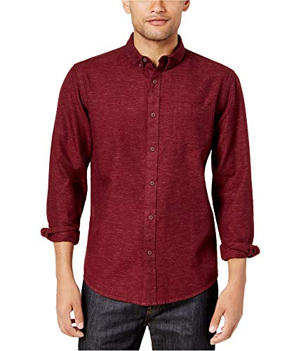 American Rag Mens Casey NEP Button Up Shirt Red XL