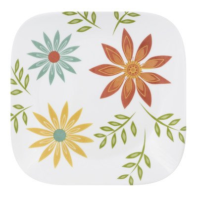 Corelle Square 8-3/4-Inch Luncheon Plate, Happy Days (Corelle Happy Days Plates compare prices)