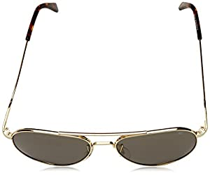 American Optical General Sunglasses 52mm Gold Frame with Wire Spatula Temples and True Color Gray Glass Lens