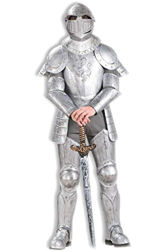 Forum Knight In Shining Armor Complete Costume, Silver, One Size by Forum Novelties
