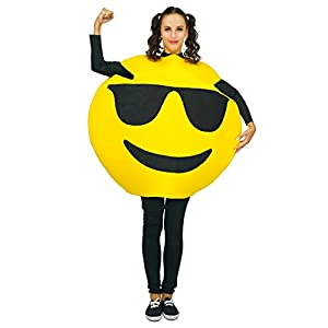 Adult Unisex Emoticon Costumes Sunglass One Size