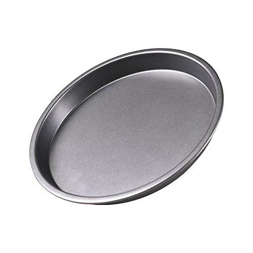 Bakerdream Non-Stick Pizza Pan Carbon Steel Pizza Tray Pie Pans, 6/8/9 inch Round Pizza Pan (8 inch) by Bakerdream
