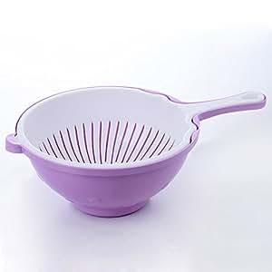 Kitchen drain basket vegetables basket Wash rice and basket,purple