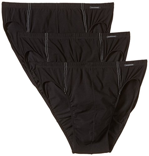 Price comparison product image Schiesser Cotton Stretch 3 Pack Supermini Briefs (005221) XL / Black