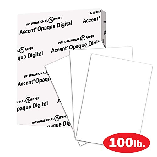 Accent Opaque Thick Cardstock Paper, White Paper, 100lb Cover, 271 gsm, Letter Size, 8.5 x 11 Paper, 97 Bright, 1 Ream / 200 Sheets, Smooth, Heavy Card Stock (1188091R) (Renewed)