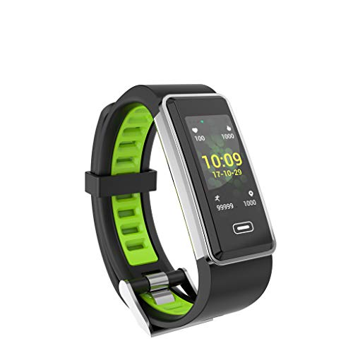 Fullyday 3D Dynamic Interface G23 IP67 Waterproof Multi-funtions Rectangular Screen Smart Watch GPS Sports Tracker Blood Pressure Oxygen Heart Rate Smartwatches for Android iOS (Green)