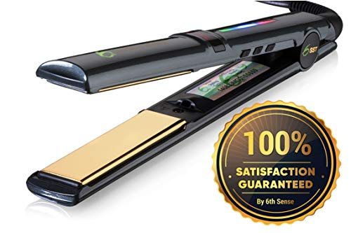 Professional Flat Iron Hair Straightener Ceramic Tourmaline 1 Floating Plates 1 Pass No Pinch Free 2-in-1 Mini Iron Heat Resistant Carry Case