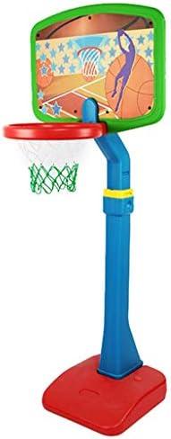 子供のバスケットボールのおもちゃを上げると屋内低下させることができるラックと屋外のバスケットボールバスケットボールポンプでラックを撮影ラック