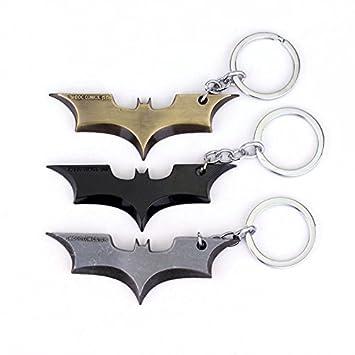Llavero con diseño de Batman, color plateado: Amazon.es ...