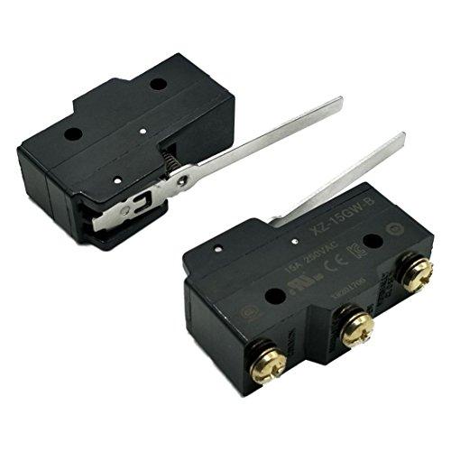 Mini Limit Switch (SODIAL(R) XZ-15GW-B 15A Mini Limit Switch Long Lever Arm SPDT Snap Action 2pcs)