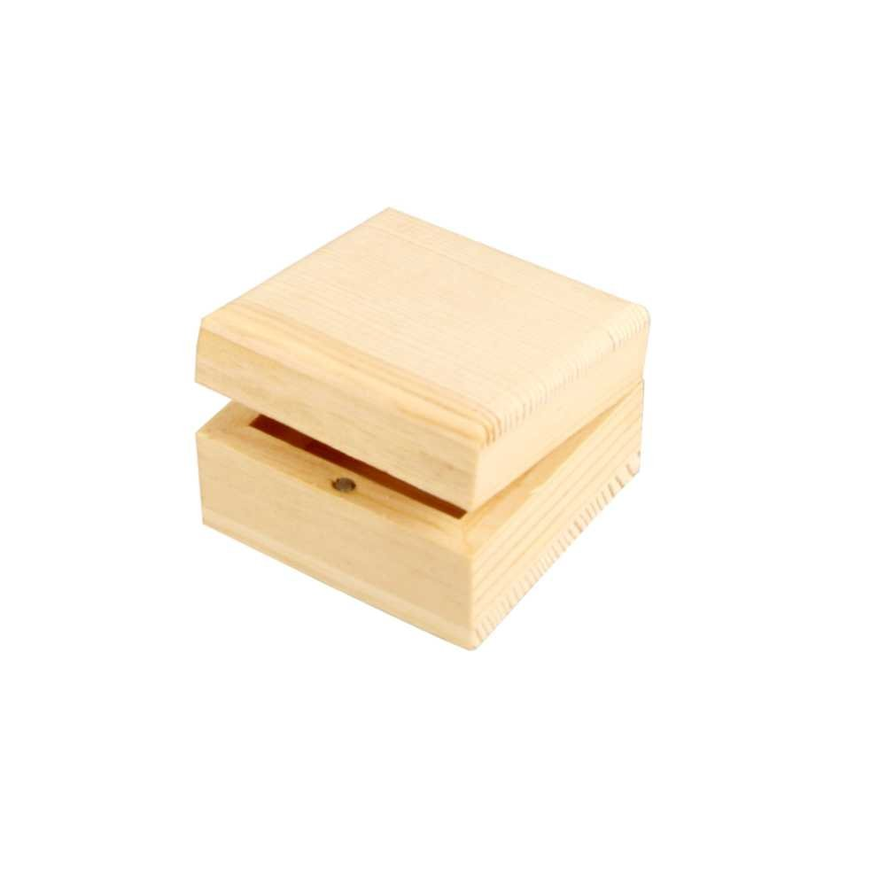Creativ 1Piece Wooden Small Square Jewellery Box with Magnetic