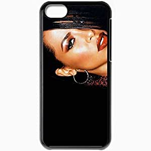 Personalized iPhone 5C Cell phone Case/Cover Skin Alia Aaliyah Actors Black