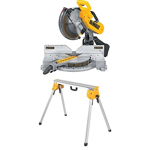 DEWALT DW716 15 Amp 12-Inch Double-Bevel Compound Miter Saw with Heavy Duty Work Stand