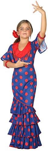 Atosa-39394 Disfraz Flamenca, Color Azul, 3 a 4 años (39394 ...