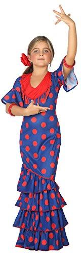 Atosa-39394 Disfraz Flamenca, Color Azul, 3 a 4 años (39394)
