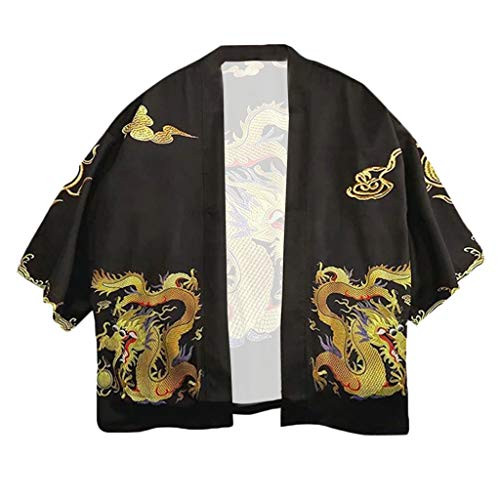 Long Satin Lounge Bathrobe Classic Print Embroidery Kimono Robe Nightgown]()