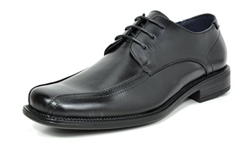 (Bruno Marc Men's State-02 Black Classic Business Dress Shoes Square Toe Leather Lined Oxford - 9 M US)