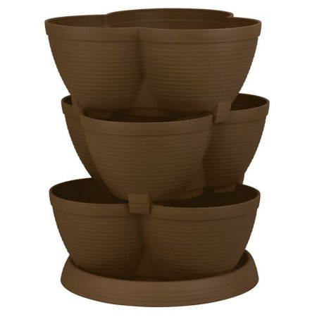 Akro Mils 3 Tier 30 Quart Strawberry, Tomato, Plant Stacking Stack A Pot Self Watering Akro Planter