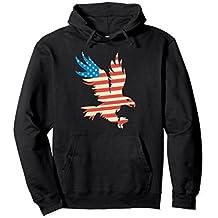 Patriotic Flying American Eagle USA Flag T-Shirt Hoodie