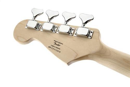 Squier de Fender Bronco Bass, negro con diapasón de arce