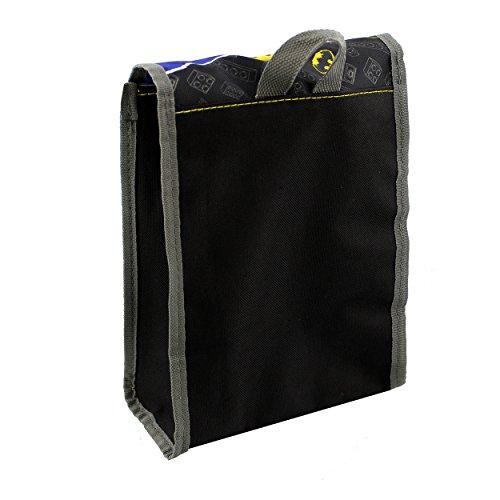 Lego Batman 5 piece Backpack School Set (One Size, Black/Grey)