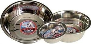 Loving Pets Standard Stainless Dish Dog Bowl, 10-Quart