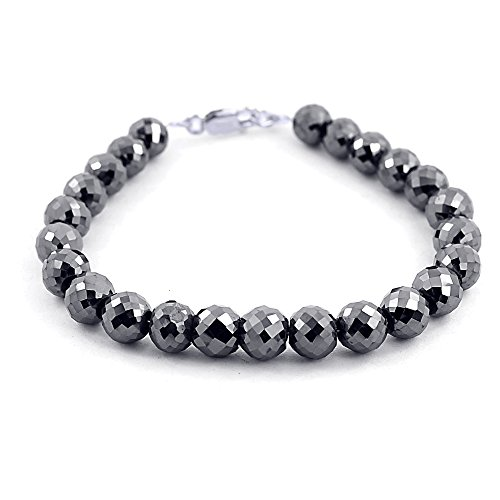 Skyjewels 8mm Certified Black Diamond Men's Bracelet With White Gold,Black Gold Clasp by skyjewels