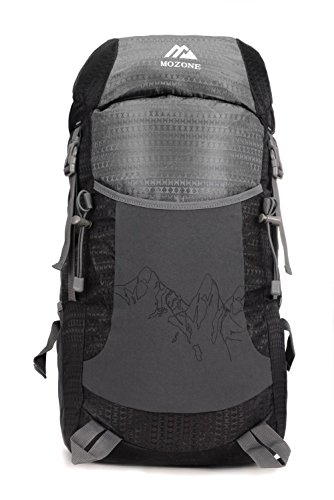 Mozone Large 45l Lightweight Travel Backpack/Foldable & Packable Hiking Daypack (Black)