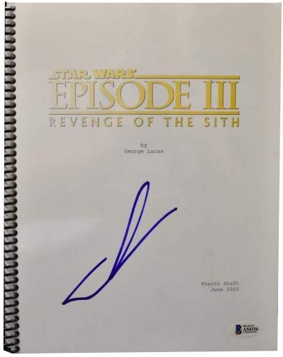 George Lucas Signed Signed Star Wars Episode 3 Revenge Of The Sith Script Bas At Amazon S Entertainment Collectibles Store