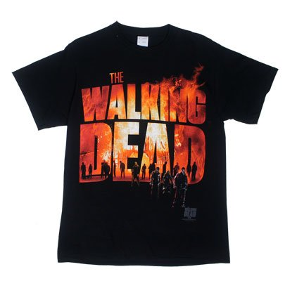 The Walking Dead Two Fire Logo Adult T-shirt L