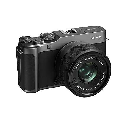 "Fujifilm X-A7 24.2 MP Mirrorless Camera with XC 15-45 mm Lens (APS-C Sensor, Large 3.5"" Vari-Angle Touchscreen, Face/Eye Auto Focus, 4K Video Vlogging, Blur Control, Film Simulations) - Dark Silver 2"