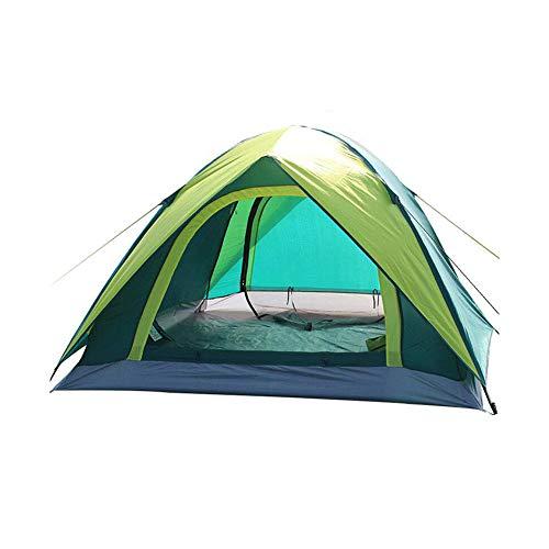 傾いた有限意図DALL テント テント キャンプ ドーム バックパックテント キャリーバッグ付き 軽量 2-3人 テント (色 : Green)