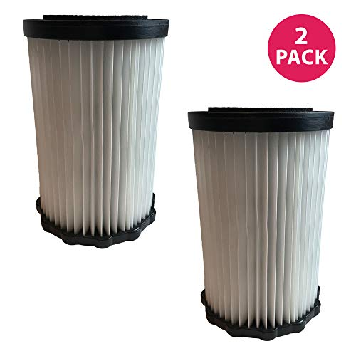 (Crucial Vacuum Replacement Air Filters - Dirt Devil F-3 Vacuum Cleaner Filter - 7.2-Inches Tall HEPA Style Part, Washable and Reusable - Pair with Parts #3250435001 Model (2 Pack))