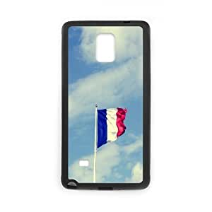 [National Flags] French Flag Cases for Samsung Galaxy Note 4, Samsung Galaxy Note 4 Case {Black}