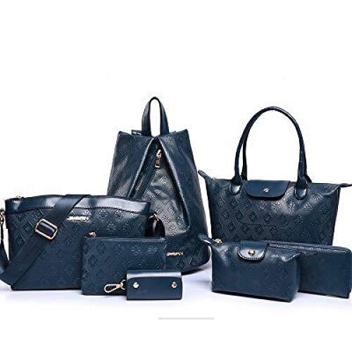 Diagonale Épaules en Nouveaux Dos SHUANGJIAN Relief À À Sacs Pièces Valeur Main Sac Sac blue D'Épaule Mobiles Six Femme Mode wwq1fBF