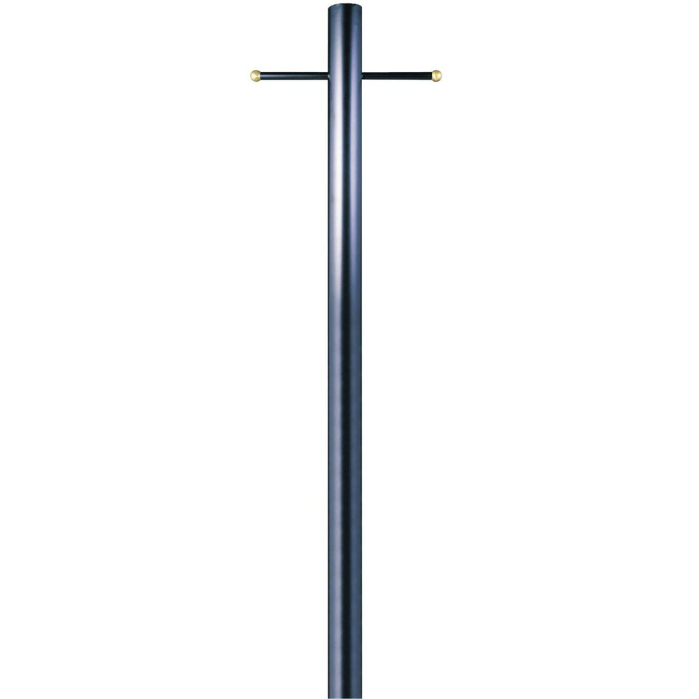 Lantern Post in Black Finish on Steel Ladder
