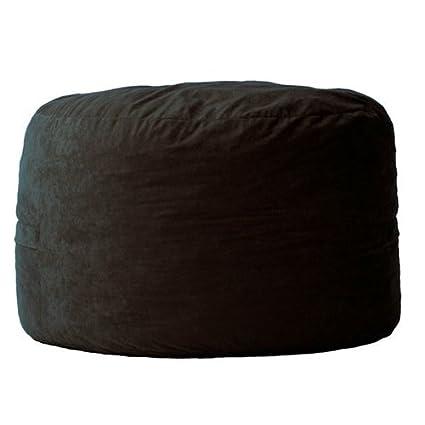 amazon com svitlife black suede medium 3 foot bean bag chair made rh amazon com