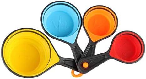 RG-FA farbenfrohe, langlebige und praktische Küchen-Messlöffel, ein Set, tragbar, faltbar S
