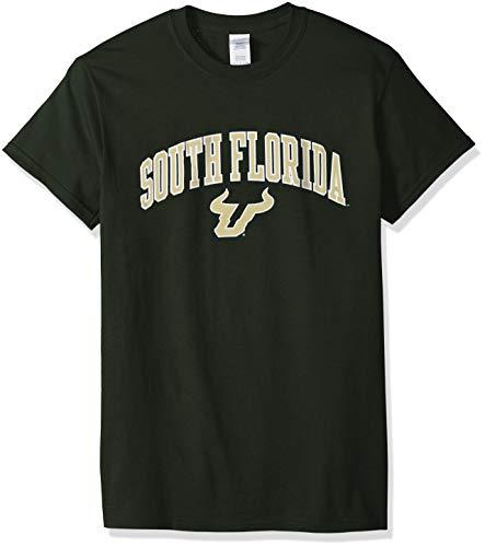 (Elite Fan Shop NCAA Men's South Florida Bulls T Shirt Team Color Arch South Florida Bulls Green Medium)
