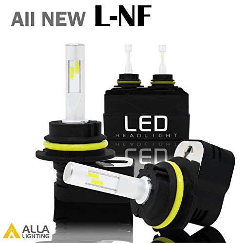 Alla Lighting L-NF Vision 9007 HB5 LED Headlight Bulbs Extreme Super Bright LED 9007 Headlight Bulbs 6000K ~ 6500K Xenon White 9007 Bulb 8400Lm 9007 LED Headlight Conversion Kit Lamp (Set of 2)