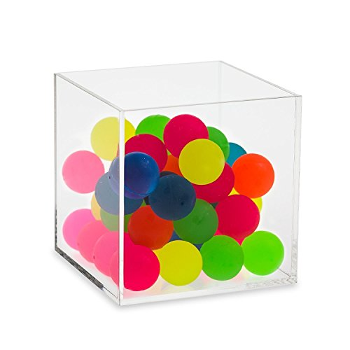 Display Cube 12 (Source One 5 Sided Clear Acrylic Gift Shop Bins Toys Goodies Counter Top Displays (12 inch Cube))